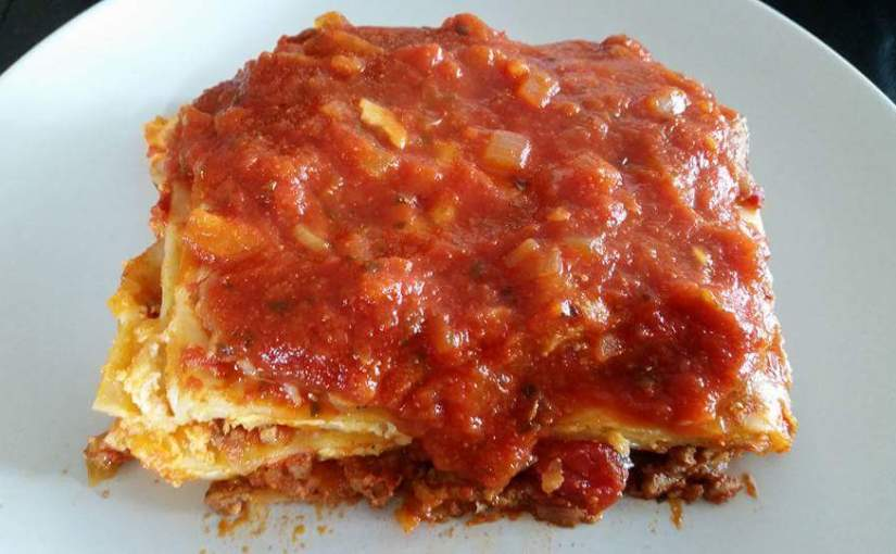 SPICY MEAT & CHEESE LASAGNA