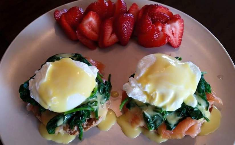 SALMON SPINACH EGGS BENEDICT